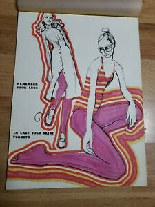 Vintage RISD Apparel Design Poster fashion Remember Your Legs drawing