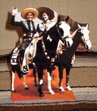 "Cisco Kid and Poncho TV Western Tabletop Display Standee 9 1/2"" Tall"