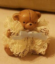 Tiny brown Bear MINIATURE Christmas Holiday Ornament Dollhouse Doll Decor
