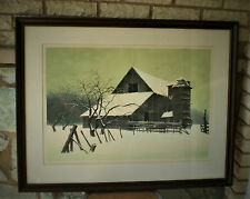ROBERT ADDISON Signed Serigraph WINTERSET Signed & Number  Framed