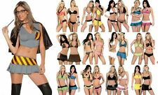 AUTHENTIC DESIGNER LOT 40 Pcs SEXY COSTUMES LINGERIE BIKINI CLUBWEAR RAVE S M L