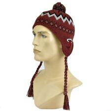 NBA Adidas 26F6X Miami Heat Kids Nordic Ear Laps Pom Pom Acrylic Knit Beanie Hat