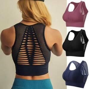 Damen Sport Yoga BH Bra Unterwäsche Frauen Sport Fitness Bustier Frauen Crop Top
