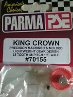 "Parma 70155 King Crown Gear 35 Tooth 48 Pitch 1/8"" Axle With Allen Screw Qty. 1"