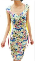 Brand New Floral Print Summer Party Cocktail Dress, Siz10-12