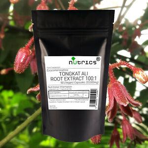 Nutrics® 53,000mg TONGKAT ALI EXTRACT 100:1 Malaysian Ginseng Longjack Capsules