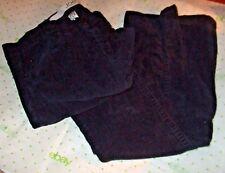 $54 JOE FRESH BLACK CORDUROY SIZE 2 PANTS 29/28 SLIM LEG