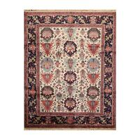 """8' x 10'2"""" Hand Knotted 100% Wool Oushakk Traditional Oriental Area Rug Beige"""