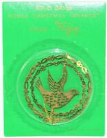 Figis Brass Ornament Vintage Dove Fast Free Shipping
