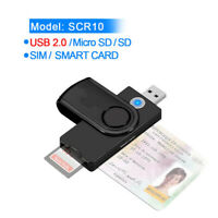 USB 3.0 Memory Smart Card Reader For DOD Military CAC Common ID Bank TF SD SIM