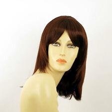 mid length wig for women dark brown copper intense ref: 322 EDITH PERUK