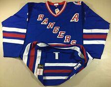 Vintage New York Rangers Brian Leetch #2 Hockey-NHL Mitchell & Ness Jersey Sz60