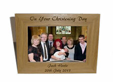 On Your Christening Day Wooden Frame 6x4-Personalise this frame-Free Engraving