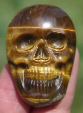 39mm Chatoyant NATURAL Gold Tiger's Eye Crystal SKULL
