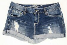 Arizona Denim Shorts Junior Girls Size 7 Distressed Medium Washed