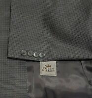 Peter Millar Sport Coat Blazer Suit Jacket Mens 46 R Wool Checked Classic Fit