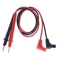 """SODIAL(R) 28"""" multimetre Cordons de test, Noir et Rouge, 1 paire F3N9"""
