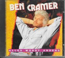 BEN CRAMER - Alles wordt anders CD Album 12TR (DURECO) 1991 HOLLAND RARE!