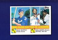 Murphy/Cooper/Rice RBI Leaders HOF 1984 Topps Baseball #133 (NM+)