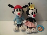 "Vintage15"" Animaniacs Plush Doll Wakko & Dot Dakin 1993 Stuffed Animal 1 Mint"