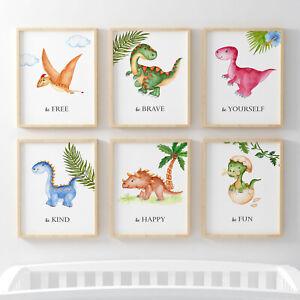 Dinosaur Boys Room Prints, Dino Nursery Prints,T-rex room decor, Dinosaur poster