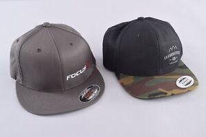 Pair of Snapback Flexfit Hats Crank Brothers Focus Black Camo Grey S/M One Size