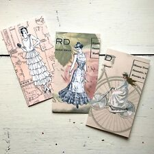 Vintage Ladies Standard Size Traveler's Notebook Style Notebooks Set of 3