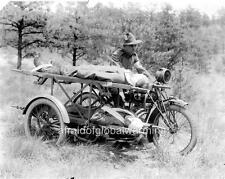 Photo. WW1. Indian Motorcycle Turned Into Ambulance