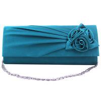 Fashion Flower Bride Wedding Clutch Evening Ladies Handbag Prom Clutch Purse Bag