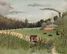 Landscape and Four Young Girls by Henri Rousseau 60cm x 48cm Art Paper Print