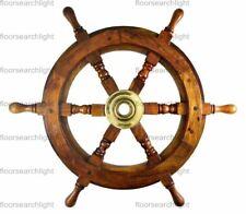 24 Inch Wooden Maritime Captains Decor Ship Wheel Steering Vintage New Antique