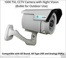 Viewever 1000TVL CCTV Camera with Night Vision (Bullet)