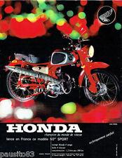 PUBLICITE ADVERTISING  026  1963  Honda  moto 50cc Sport