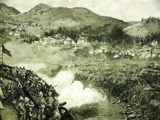 WAR in SIKKIM TIBET CAMP at GNATONG 1888 Art Matted