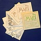 1974 Vintage Daniel Mari Electric and Acoustic Guitar Strings - set of 7! for sale