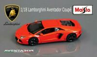Lamborghini Aventador Coupe 1:18 Special Edition Diecast Model Car Red Orange