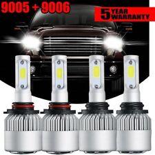 4pcs Combo LED Headlight Conversion Bulbs For Dodge Ram 1500 2500 3500 2016-2017