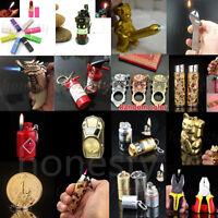 Various shapes Mini Butane Gas Cigarette Flame Lighter Refillable Gift