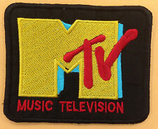 MTV MUSIC TELEVISION  LOGO  PATCH IRON ON OR SEW ON