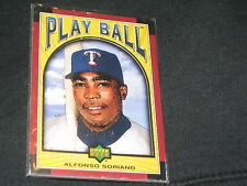ALFONSO SORIANO LEGEND GENUINE AUTHENTIC LIMITED EDITION BASEBALL CARD /175