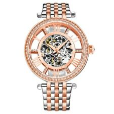 Stuhrling 3944 3 Delphi Automatic Skeleton Crystal Accented Womens Watch