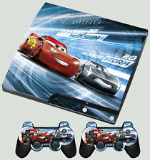 PLAYSTATION PS3 SLIM STICKER Cars 3 Lightning Mcqueen Jackson SKIN & 2 PAD SKINS