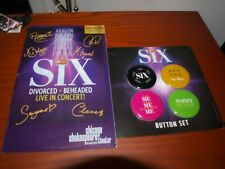 SIX The Musical Button Set & American Premiere Chicago Shakespeare Playbill