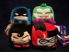 "4 Kawaii Cubes Plush Toys 2.5"" Batman * The Joker * Harley Quinn * Superman NEW!"