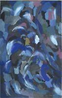 """R. Lemm Impressionist Gouache Papier """"Der Strudel"""" 28 x 18 cm"""