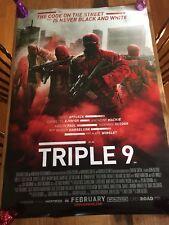 Original TRIPLE 9 DS Movie Poster, 27x40 (2016) - Casey Affleck