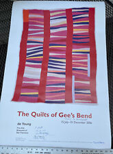 Rare 24x35.5 Poster: Quilts of Gee's Bend signed by 6 of the exhibit's quilters!