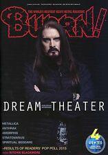 Burrn! Heavy Metal Magazine April 2016 Japan Dream Theater Metallica Anthrax