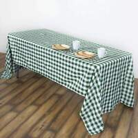 60x102 inch - Gingham Checkered Polyester Rectangle Seamless Tablecloth Picnic