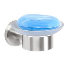Jabonera de la serie de baño bremermann® Piazza de vidrio y acero inoxidable